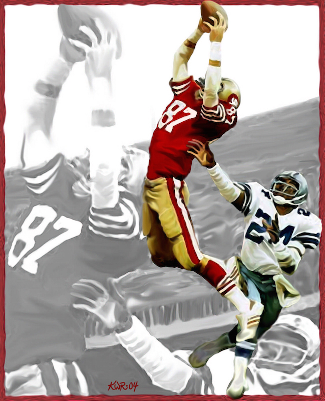 "Dwight Clark ""The Catch"" / 2004 / Acrylic"