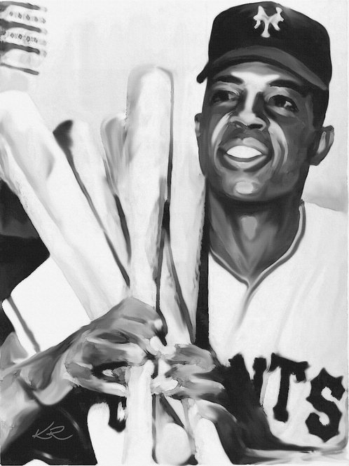 "Willie Mays / 11""x14"" art print"