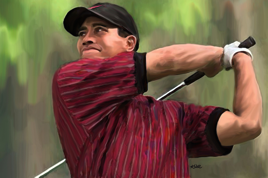 Tiger Woods / 2006 / Acrylic