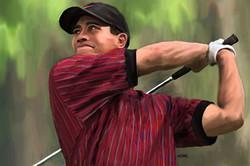 Tiger Woods / 2006 / Acrylic