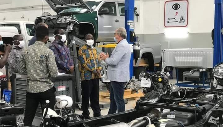 Minister For Trade And Industry Paid A Visit To VW Ghana Assembly Facility In Accra