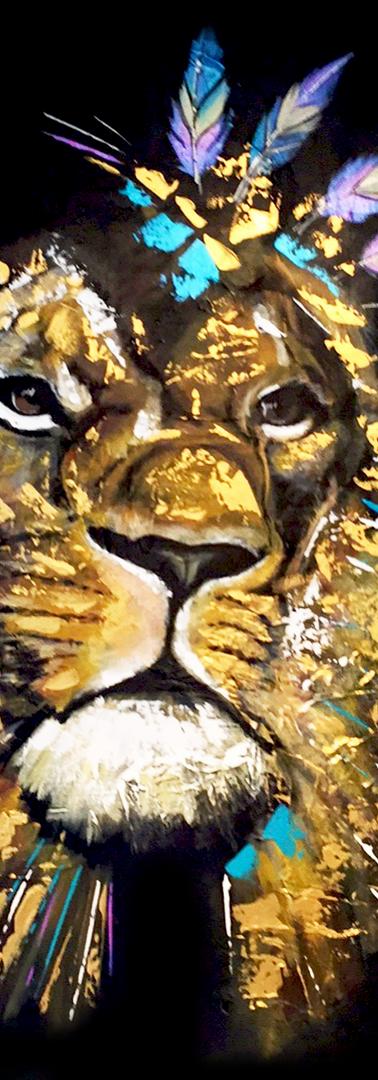 Golden Native lion
