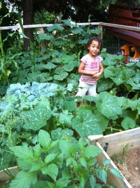Shaiel in garden
