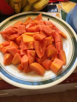 Papaya from the garden
