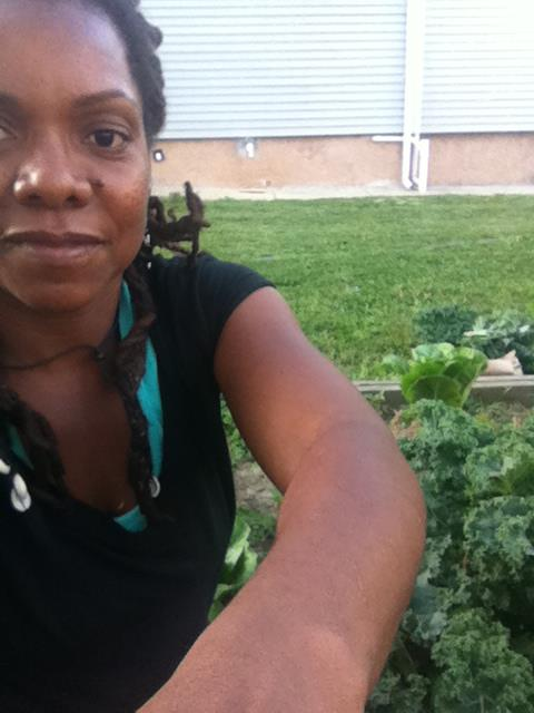 Empress in Kale garden