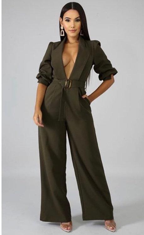 Olive suit