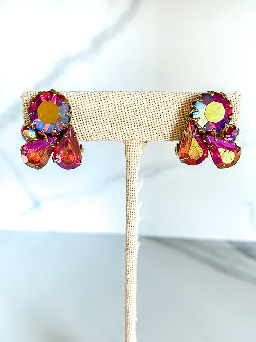 Pink Cluster Studs