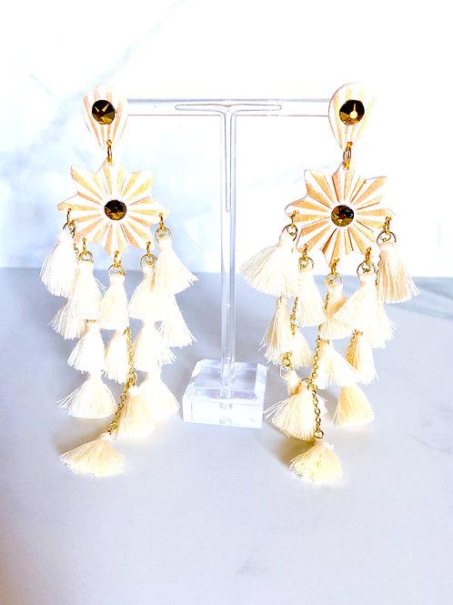 Gilded Star Shoulder Duster Earrings
