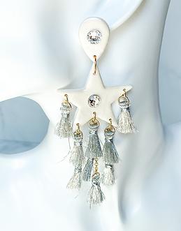 Elvis star tassel statment earrings