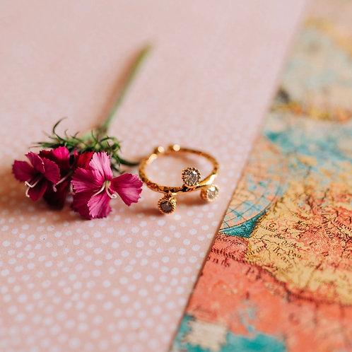 Hand-Textured CZ ring (Fair Trade Item)