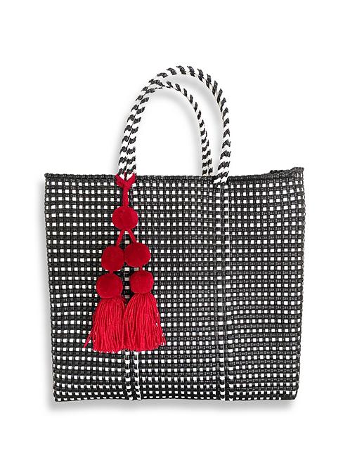 Mercado Bag in Black & White Gingham check (Pom Pom sold separately)