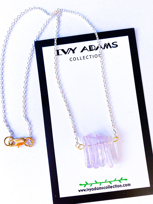 Lavender Dainty Quartz Necklace