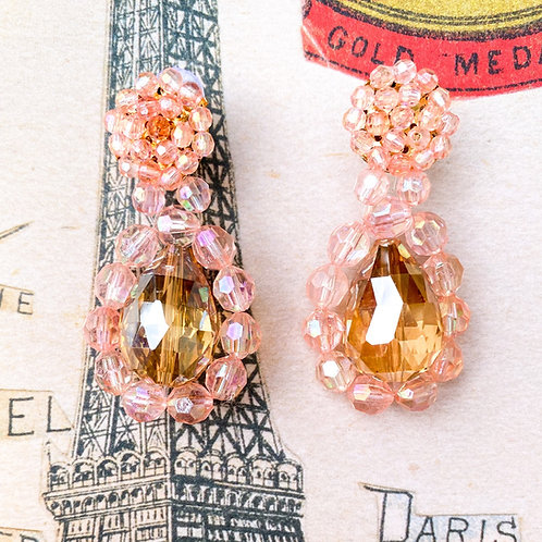 The Antionette Blush Crystal Drop Earrings