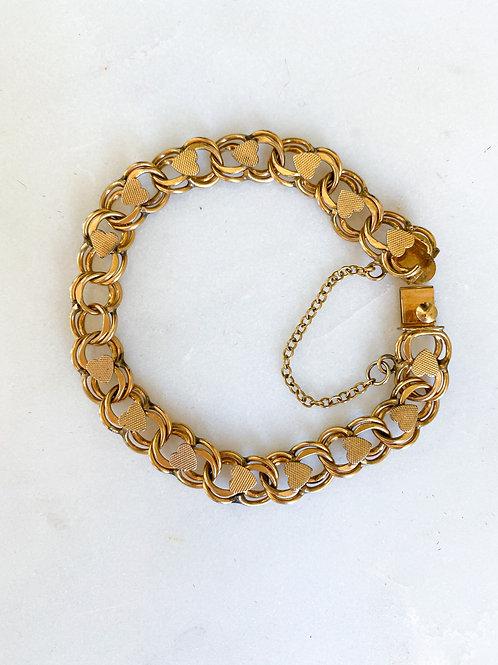 Double-linked Heart Gold-Filled Bracelet