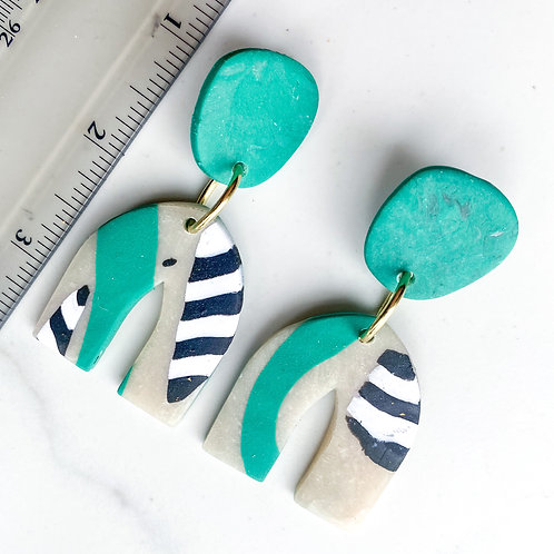 Cathedral Arch Earrings in Kyoto Print