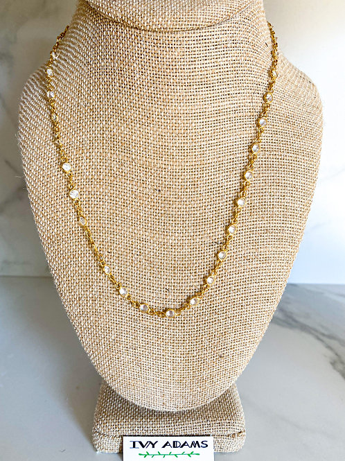 Crystal Chain Dainty Necklace