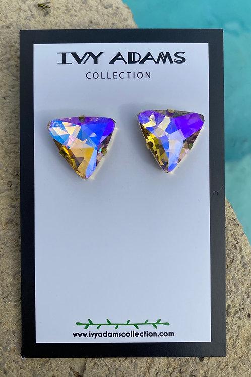 Hott Girl Summer Triangular Crystal AB studs