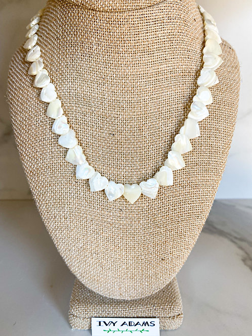 Heart Mother-of Pearl Necklace