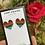 Thumbnail: Rainbow Crystal Heart Studs