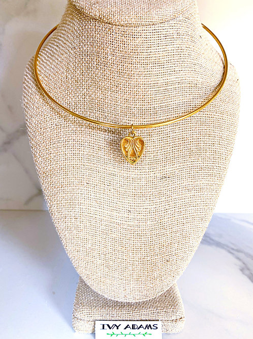 Heart Pendant Collar Necklace