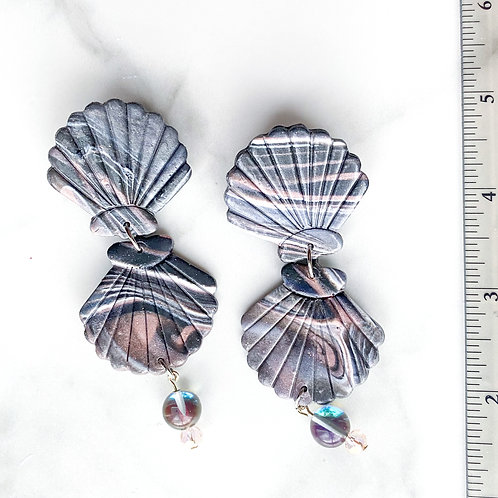 Maori Shells, Large  (Dusky Swirl + Mermaid Glass)