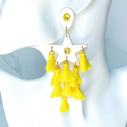 Daybreak Elvis Star Clay Earrings