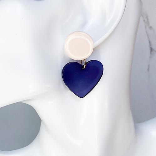 Candy Heart (navy)