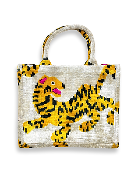 Pre-Order Silk Velvet Tiger Tote (Fair Trade Item)