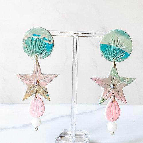 Mermaid Star with Sea Glass