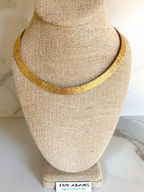 Textured Rose of Texas Collar necklace