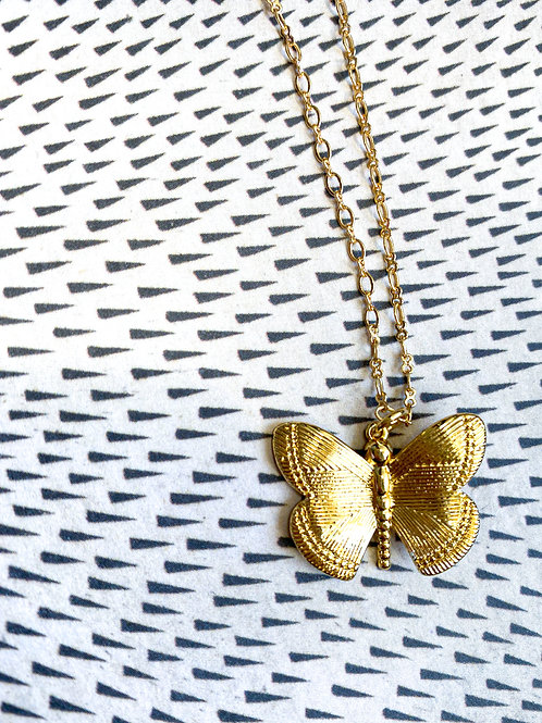 Gold-Filled Butterfly Necklace