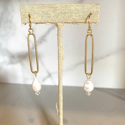 Paper clip Pearl Drop