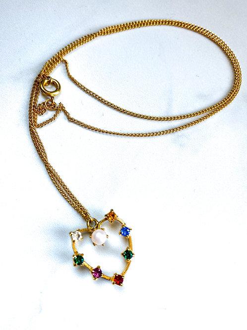 Vintage Multicolor Crystal Necklace