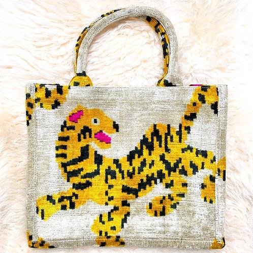 Silk Velvet Tiger Tote (Fair Trade Item)