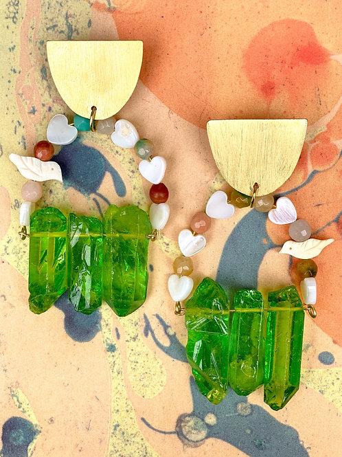 Cactus Love Birdcage Earrings