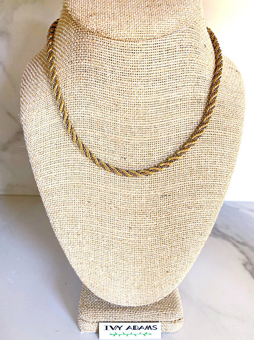 Mixed Metal Double-Strand Rope Necklace