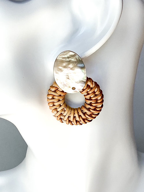 Mother-of-pearl Rattan Hoops
