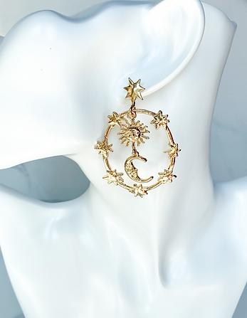 celestial universe statement earrings