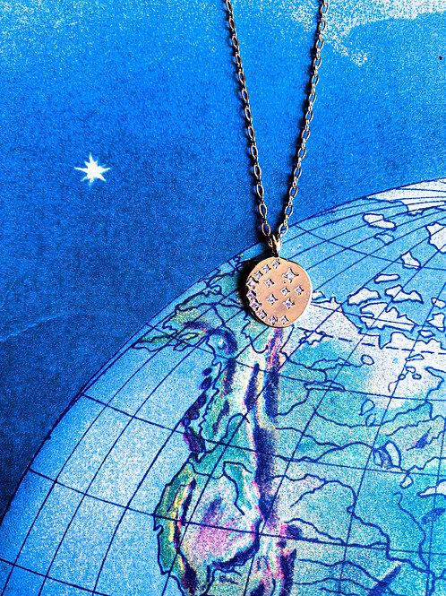 Gold-Filled Across the Universe Necklace