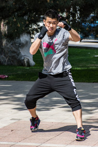 Boxing outdoor training