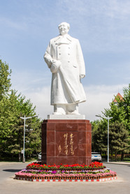 One of the few sculptures of Chairman Mao in China's universities near the Southwest entrance