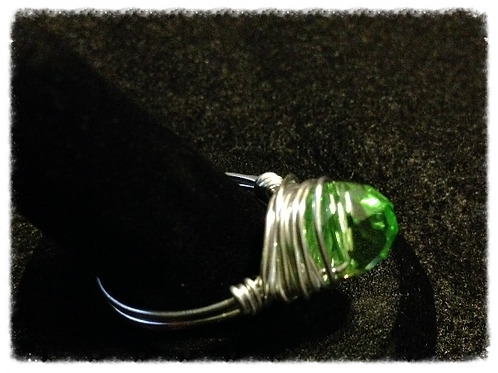 Peridot Wire Wrapped ring
