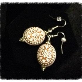 Aztec Ceramic Bd Earrings