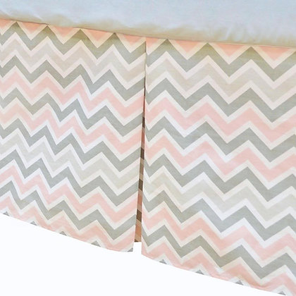 Cotton Percale Tailored Crib Skirt with Pleats
