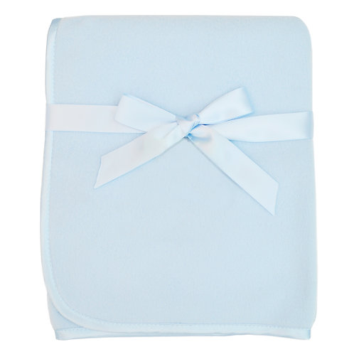 "Fleece Blanket with 3/8"" Satin Trim"