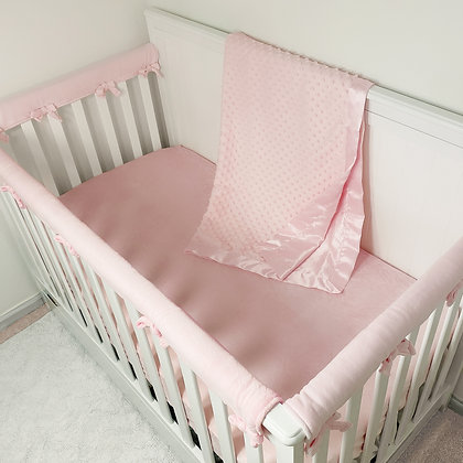 5 Piece Heavenly Soft Minky Dot Crib Bedding Set
