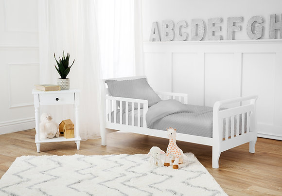 4 Piece Heavenly Soft Minky Dot Toddler Bed Set