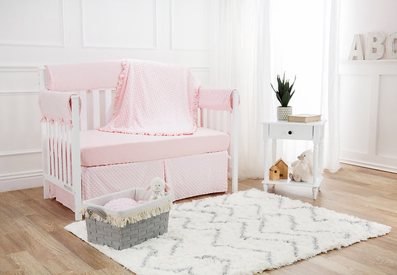 6 Piece Heavenly Soft Crib Bedding Set