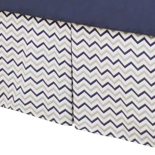 Tailored Crib Skirt with Pleats