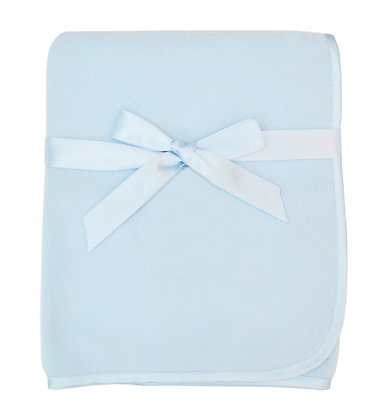 "Fleece Blanket with 3/8"" Satin Trim"